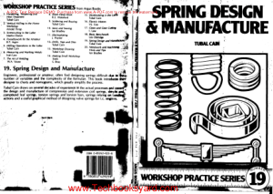 Workshop practice series 19 Spring Design and Manufacture