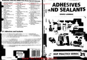 Workshop practice series 21 Adhesives and Sealants