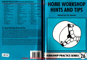 Workshop Practice Series 26 Home Workshop Hints and Tips