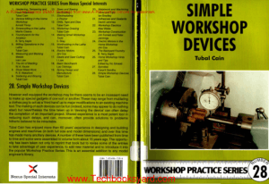 Workshop Practice Series 28 Simple Workshop Devices