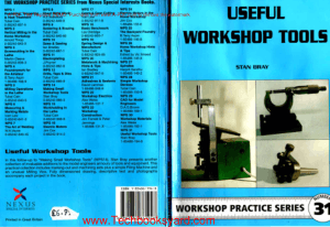 Workshop Practice Series 31 Useful Workshop Tools