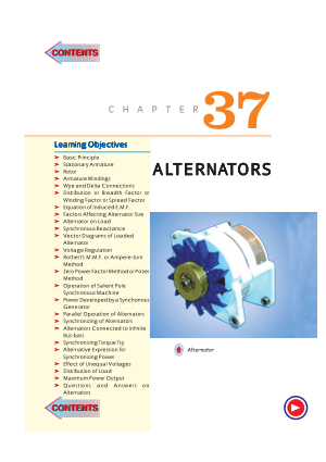 A textbook of electrical technology By theraja-volume 2 Chapter37